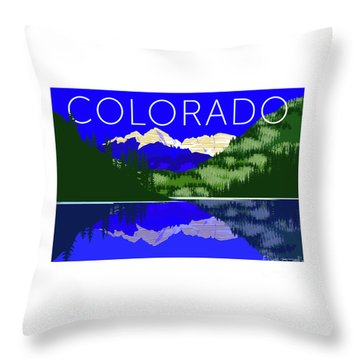 Maroon Bells Day Throw Pillow