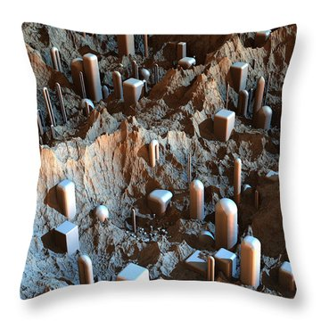 Mars Colony One Throw Pillow