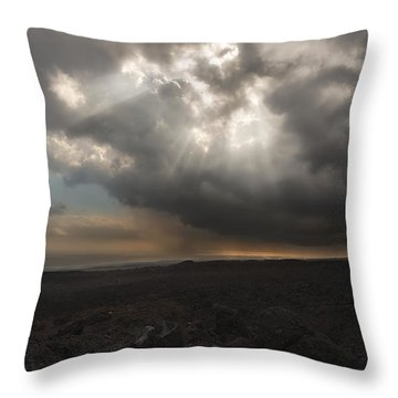 Throw Pillow featuring the photograph Mars Landscape by Ryan Manuel