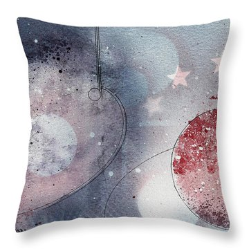 Mars Throw Pillow by Monte Toon