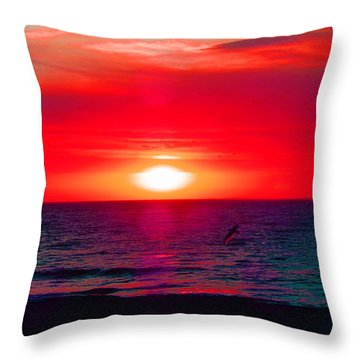 Mars Sunset Throw Pillow