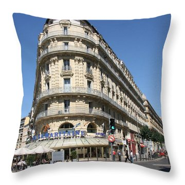 Throw Pillow featuring the photograph Marseille, France by Travel Pics