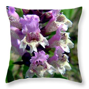 Marsh Flower Throw Pillow