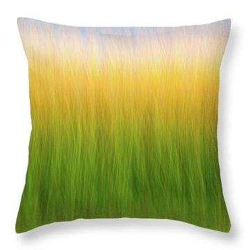 Marsh Grass Throw Pillow