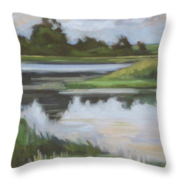 Marsh, June Afternoon Throw Pillow