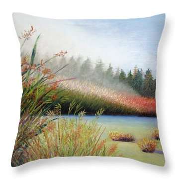 Marsh Morning Throw Pillow