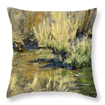 Marsh Twilight Throw Pillow