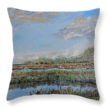 Marsh View Throw Pillow