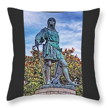 Throw Pillow featuring the photograph Marshal Of Brittany Jehan De Beaumanoir by Elf Evans