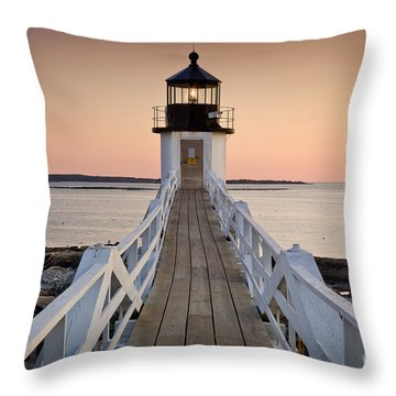 Marshal Point Glow Throw Pillow by Susan Cole Kelly
