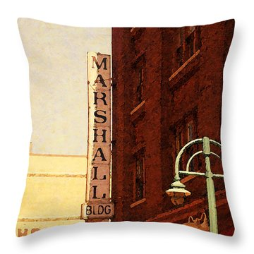 Marshall Bldg Throw Pillow