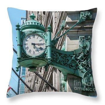 Marshall Field's Clock Throw Pillow