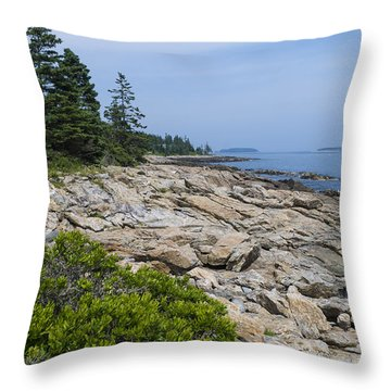 Marshall Ledge Looking Downeast Throw Pillow