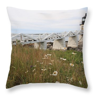 Marshall Point Daisies Throw Pillow