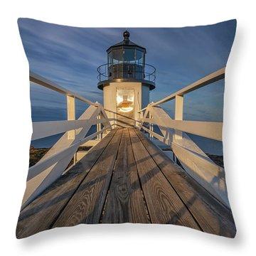 Marshall Point Lighthouse At Sunrise Throw Pillow