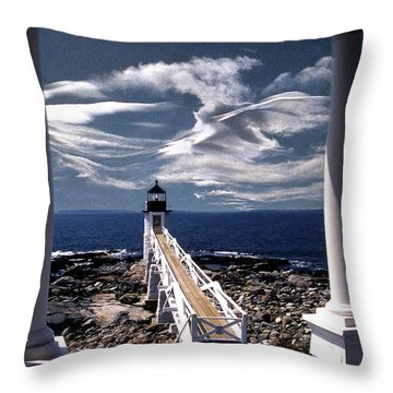 Marshall Point Lighthouse Maine Throw Pillow