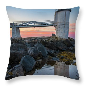 Marshall Point Reflection At Sunrise Throw Pillow