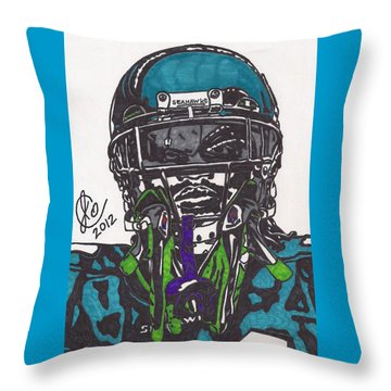 Marshawn Lynch 1 Throw Pillow