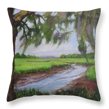 marshes of Charleston  Throw Pillow
