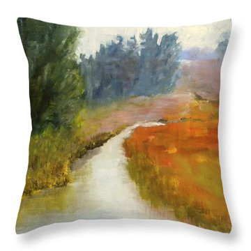 Marshes Of New England Throw Pillow