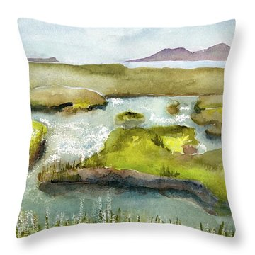 Marshes With Grash Throw Pillow
