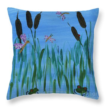 Marshland Playground Throw Pillow
