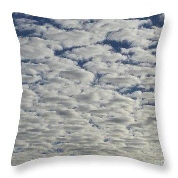 Marshmallow Sky Throw Pillow by Patricia E Sundik