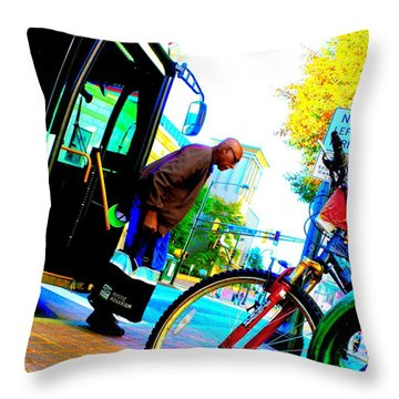 Marta's Smarta Throw Pillow