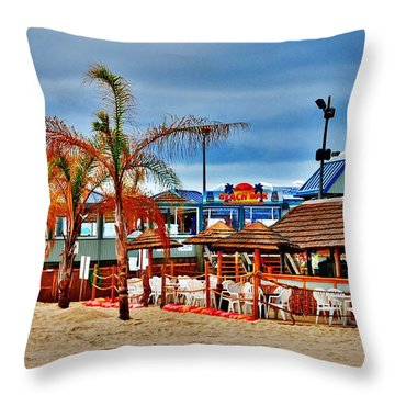 Martells On The Beach - Jersey Shore Throw Pillow