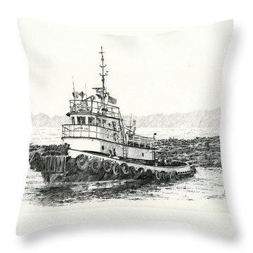 Martha Foss Log Assist Throw Pillow by James Williamson