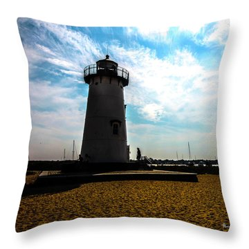 Throw Pillow featuring the photograph Martha's Vineyard Lighthouse - Massachusetts by Madeline Ellis