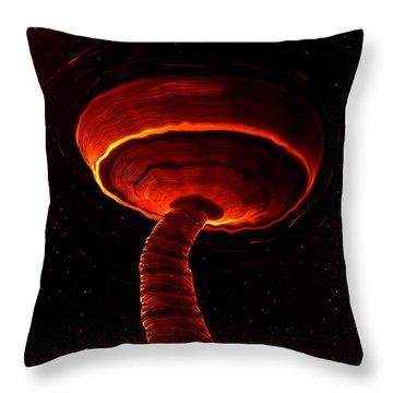 Martian Dust Devil Throw Pillow by David Lee Thompson