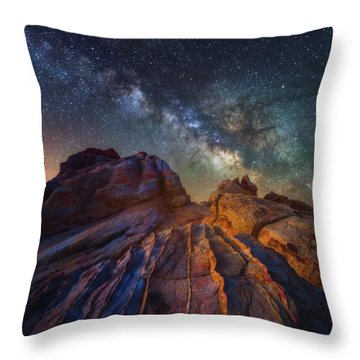 Throw Pillow featuring the photograph Martian Landscape by Darren White