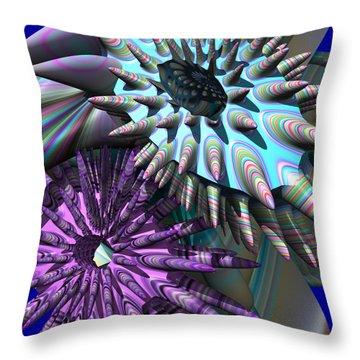 Martian Microbes Throw Pillow by Mark W Ballard