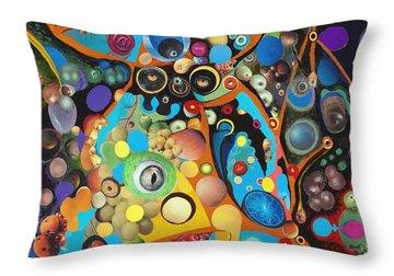 Martian Venusian Throw Pillow by Douglas Fromm