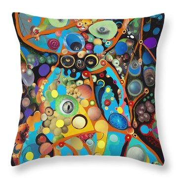 Martian Venusian Throw Pillow by Douglas Fromm