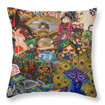 Martigras Masquerade Throw Pillow