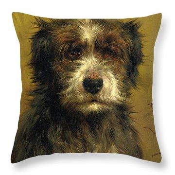 Martin, A Terrier Throw Pillow