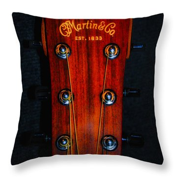 Martin And Co. Headstock Throw Pillow by Bill Cannon