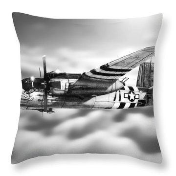 Martin B-26 Marauder Drawing Throw Pillow