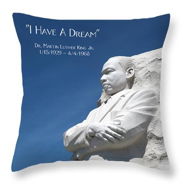 Martin Luther King Jr. Monument Throw Pillow