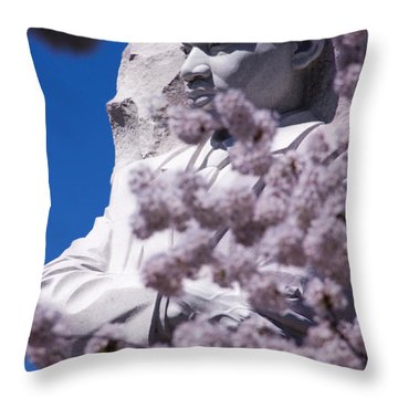 Martin Luther King Jr. Through The Flowers Throw Pillow