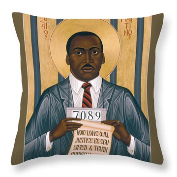 Martin Luther King Of Georgia  - Rlmlk Throw Pillow