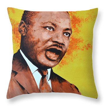 Martin Luther King Throw Pillow