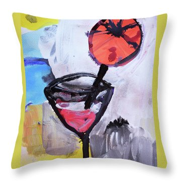 Martini And Orange Throw Pillow