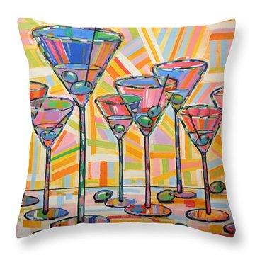 Martini Hour Throw Pillow
