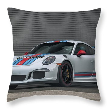 Throw Pillow featuring the photograph #martini #porsche 911 #gt3rs #print by ItzKirb Photography