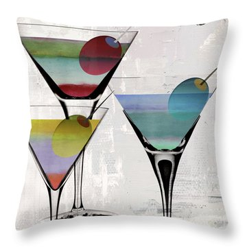 Martini Prism Throw Pillow by Mindy Sommers