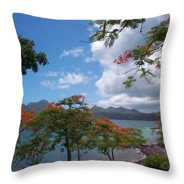 Throw Pillow featuring the photograph Martinique by Mary-Lee Sanders