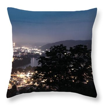 Martins Ferry Night Throw Pillow